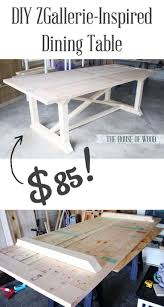 gray wash dining table diy home table decoration