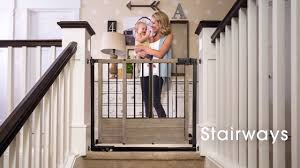 Child Proof Gates For Stairs Summer Infant Rustic Home Gate Youtube