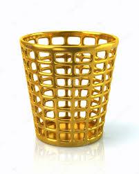 golden trash can u2014 stock photo valdum 92497630