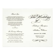 design wedding programs wedding programs zazzle