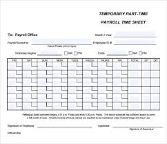 Employee Payroll Sheet Template Payroll Timesheet Template 10 Free Documents In Pdf Excel