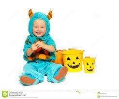 monster costume halloween little toddler boy monster costume on halloween stock photo