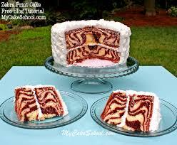 how to make a cake step by step learn how to make a cake with zebra stripes inside my cake school