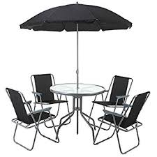 umbrella table and chairs amazon com palm springs outdoor dining set with table 4 chairs