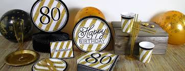 black and gold party decorations black gold 80th birthday party supplies funkyparty
