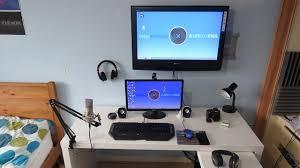 gaming desk ikea best hack setup battle station computer photos hd