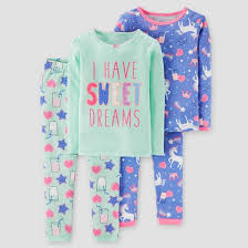 toddler 4pc sleeve cotton pajama set just one you