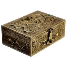 Home Decor Boxes Early 20th Century Republic Period Chinese Sandalwood Lined Brass