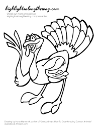 thanksgiving coloring pages printable cartoon turkeys