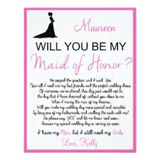 asking of honor poem bridesmaid poem wedding ideas