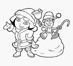dora boots coloring pages dora monkey boots coloring