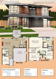 plan 85206ms narrow 3 bed modern prairie home plan modern house