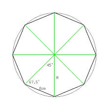 Picture Of Octagon Solution A Regular Octagon With Sides Of Length 8 Cm Is Inscribed
