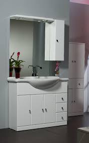 armadietto bagno con specchio mobile bagno cleo cm 105 bianco bh