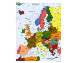 Countries Map Maps Of Europe And European Countries Political Maps Road And