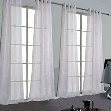 Sheer Curtains Grommet Top Voile Sheer Curtains One Pair Rod Pocket Voile Sheer Curtain With