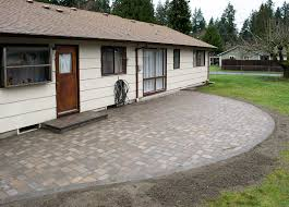 roca style paver patio in lacey washington ajb landscaping u0026 fence