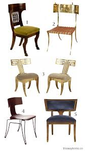 Chair Styles Guide Style Guide Klismos Chair This Way Home
