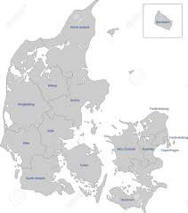 Map Of Denmark Map Of Administrative Divisions Of Denmark Royalty Free Cliparts