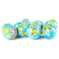 globe squeeze stress balls earth stress relief