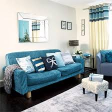 blue sofa living room festive teal and silver living room scheme teal sofa teal