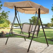 Outdoor Patio Swing by Patio Swing Canopy Replacement Black Sturdy Metal Steel Frame Iron