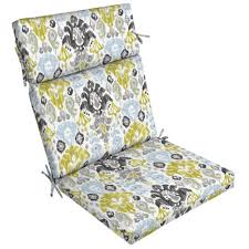 Outdoor High Back Chair Cushions Clearance Hampton Bay Chili Tropical Blossom Outdoor Dining Chair Cushion