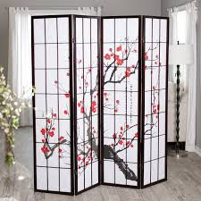 Home Dividers by Cherry Blossom Rosewood 4 Panel Room Divider Walmart Com