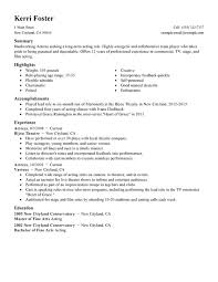 resume for a bartender unforgettable actor actress resume examples to stand out