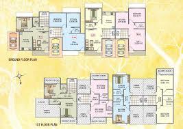 Row House Plans Aadinath Tarangan