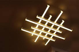 Indoor Light Fixtures Multi Led Linear Ceiling Light Fixtures Linear Pendant
