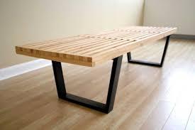 Modern Dining Bench With Back Viyet Designer Furniture Seating Modern Aluminum Slat Bench Pics