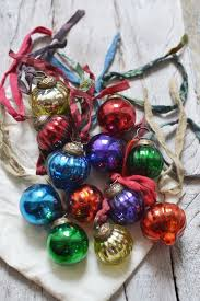 mini coloured glass baubles set of twelve decorator s notebook