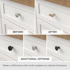 home depot brass kitchen cabinet handles liberty modern a line 1 1 8 in 28 mm brushed brass