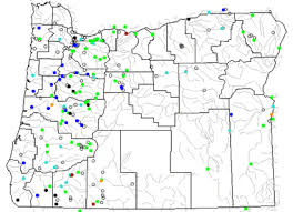 map of oregon detailed map of oregon lakes streams and rivers