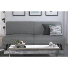 Pine Living Room Furniture Dhp Lone Pine Gray Futon 2119429 The Home Depot