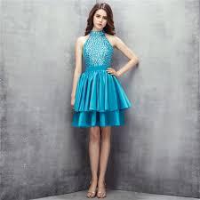 dress pesta real photos rhinestone robe de soiree 2016 high neck sleeveless