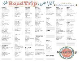 College Toiletries Checklist Http Burlapanddenim Com 2012 06 The Road Trip Pack List