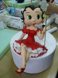 betty boop cake topper betty boop in an adorable white dress clay cake toppers
