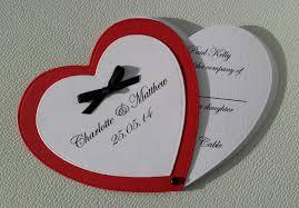 Flat Invitation Cards Charlotte U0026 Matthew U2013 Black Tie Red Heart U2013 Sallyrosestudio Com