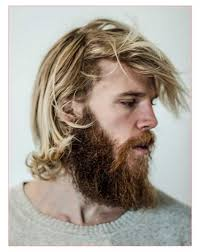mens long curly haircuts along with guy with messy long blonde