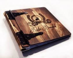 personalized wedding albums book personalized artist sketchbook unique rustic от rusticengravings