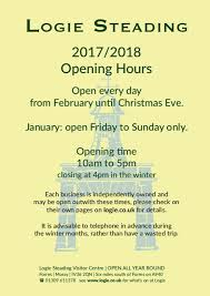 logie steading opening hours