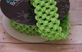 crochet elastic ribbon elastic lime green waffle crochet ribbon for crafts headbands