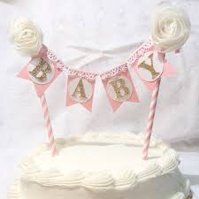 Shabby Chic Baby Shower Cakes by Baby Shower Cake Banner It U0027s A Decor Gold And Pink Silver