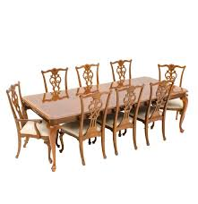 chippendale style dining table and eight chairs ebth