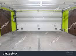 garage door underground garage located under stock photo 155341451