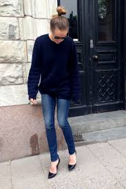 what to wear with navy blue sweater dress cashmere sweater england