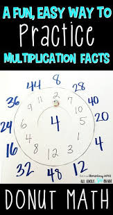 donut math a fun and easy way to practice multiplication facts