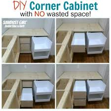 kitchen cabinet space corner storage diy corner cabinet with no wasted space sawdust